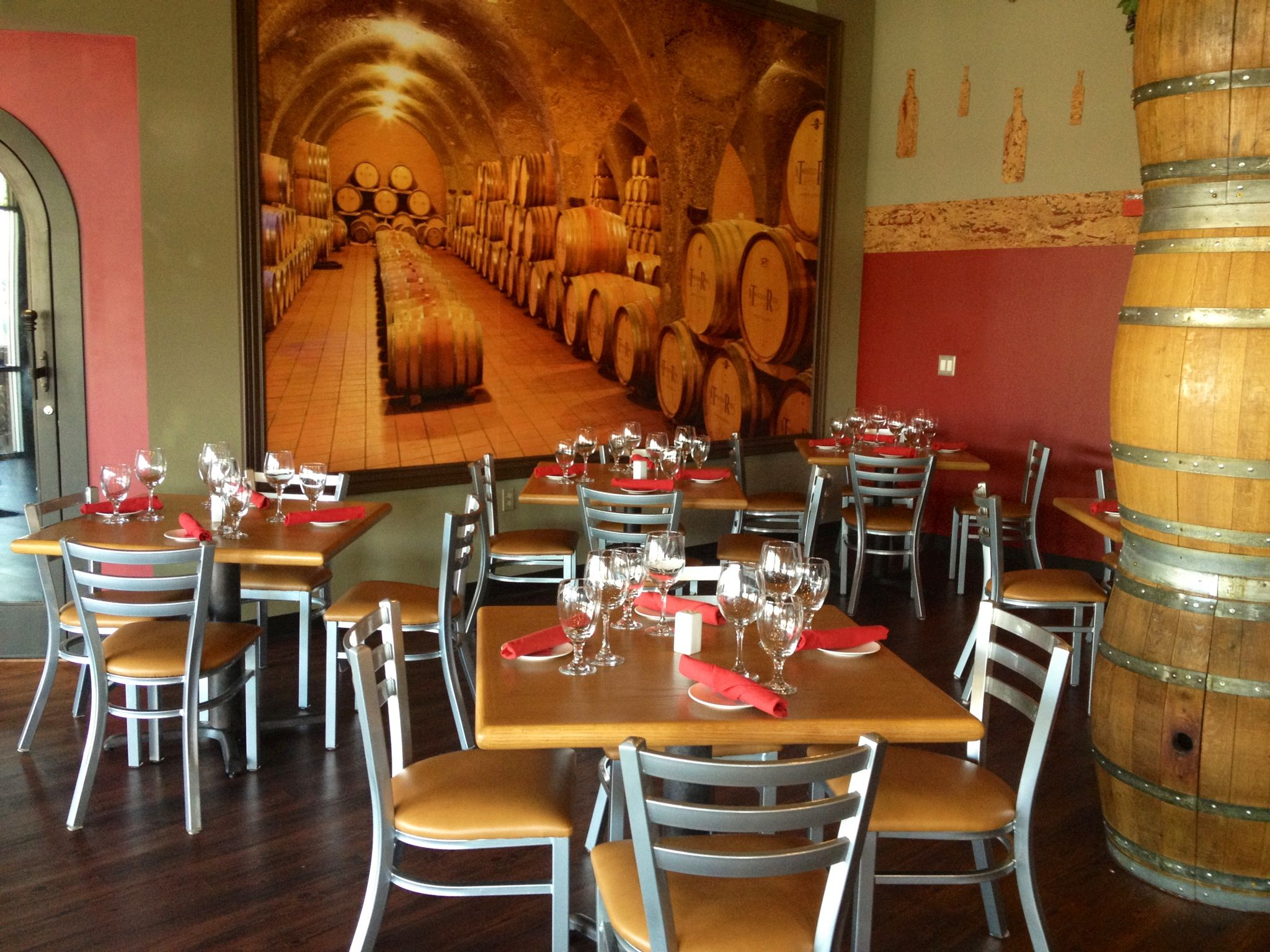 Inside winery and eatery